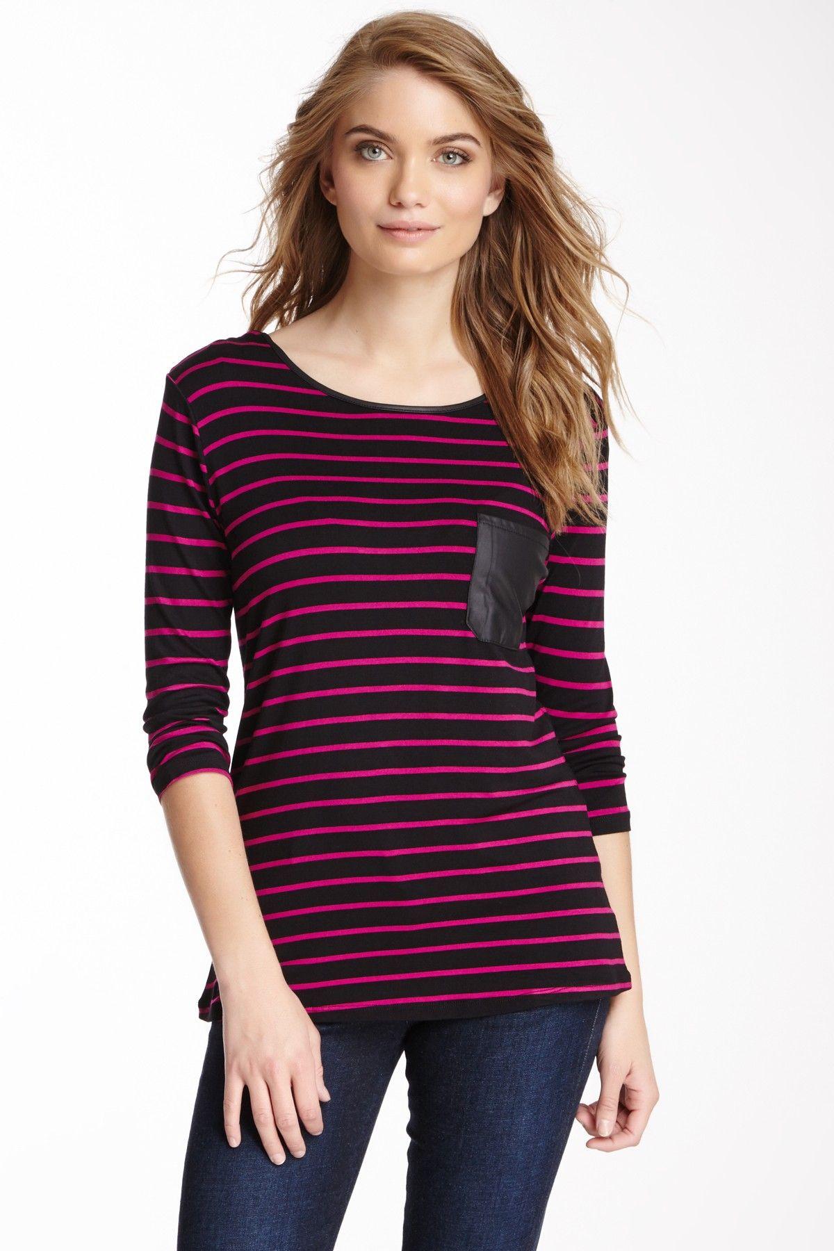 Striped Pocket Top