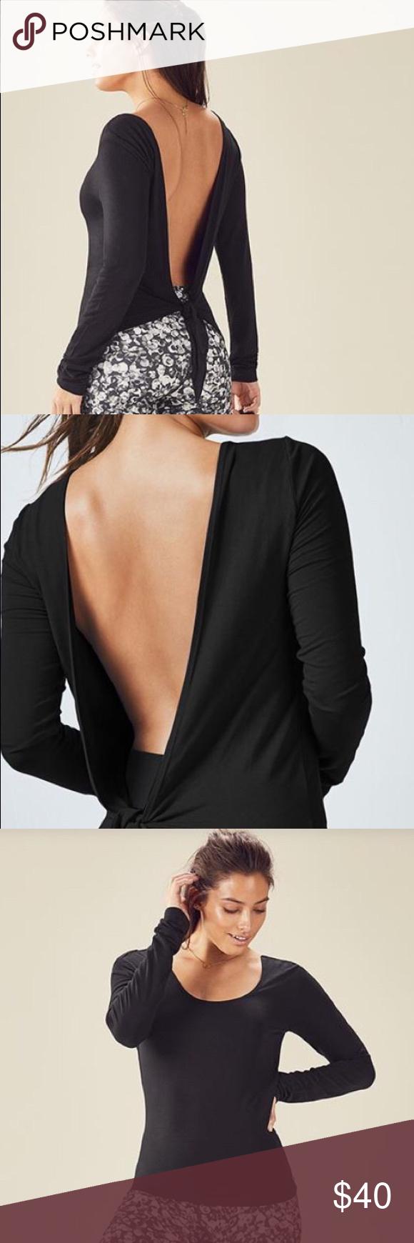 Fabletics Karen Black Shirt Size Small Nwt My Posh Picks