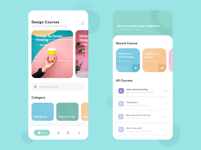 Design Course App In 2020 Design Course App Design Web Design Typography