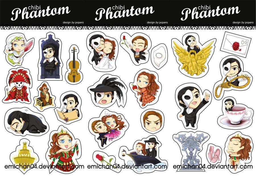 Phantom Chibis Musicals Galore In 2019 Phantom Of