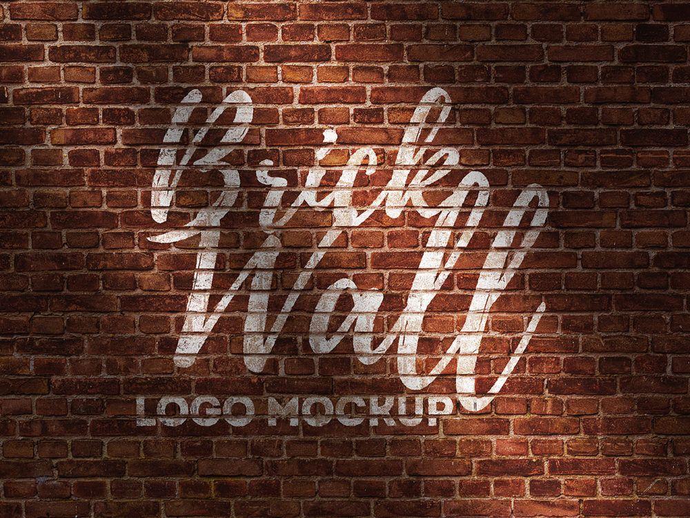 Brick Wall Logo Mockup Free Free Mockup Wall Logo Logo Mockup Free Logo Mockup