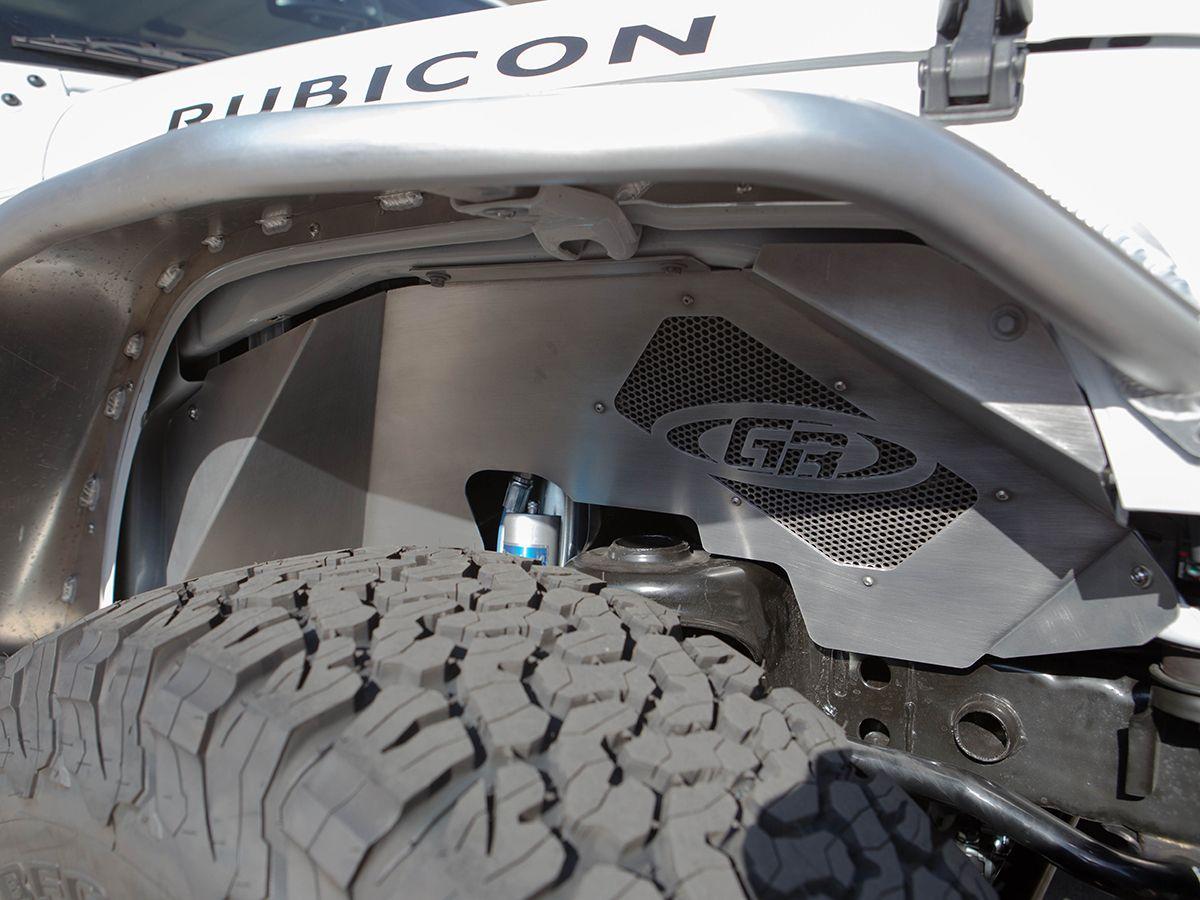 Jeep Jk Aluminum Front Inner Fenders 2 Or 4 Door Black Jeep