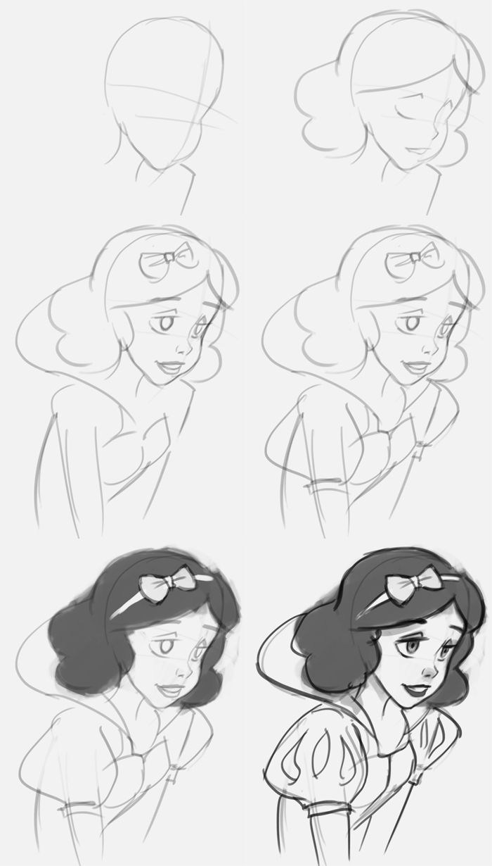 Pin by Trinity Tegley on How to draw disney charaters in ...