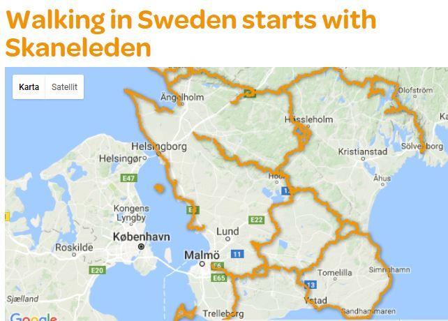 The Skåneleden Trail Is One Of The Best Long Distance Footpath - Sweden map distance