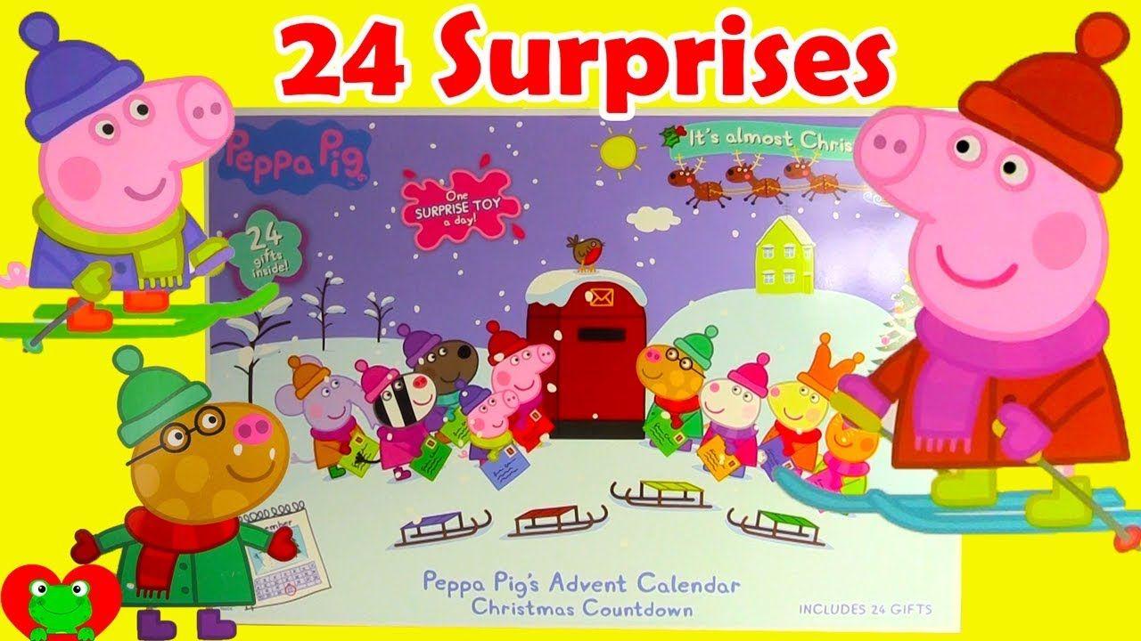 Peppa Pig Magical Muddy Surprises Club Receipts Peppas First Sleepover 2017 Advent Calendar 24 Toy Video