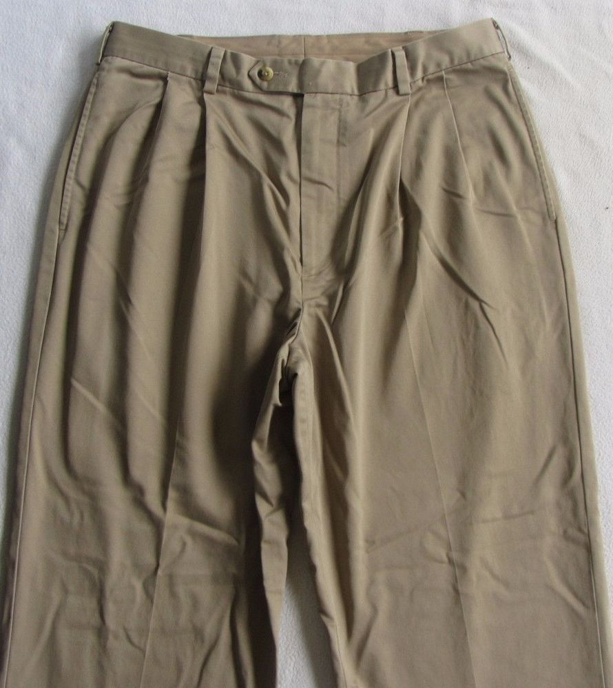 Jos. A. Bank Men's Pleated Khaki Chino Dress Pants Tag