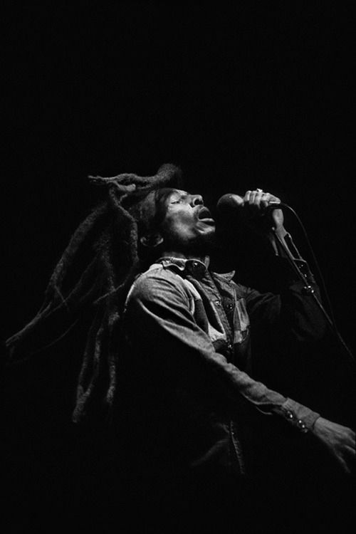 Bob Marley. A man with such a powerful message to his music! A leader & true reggae master :)