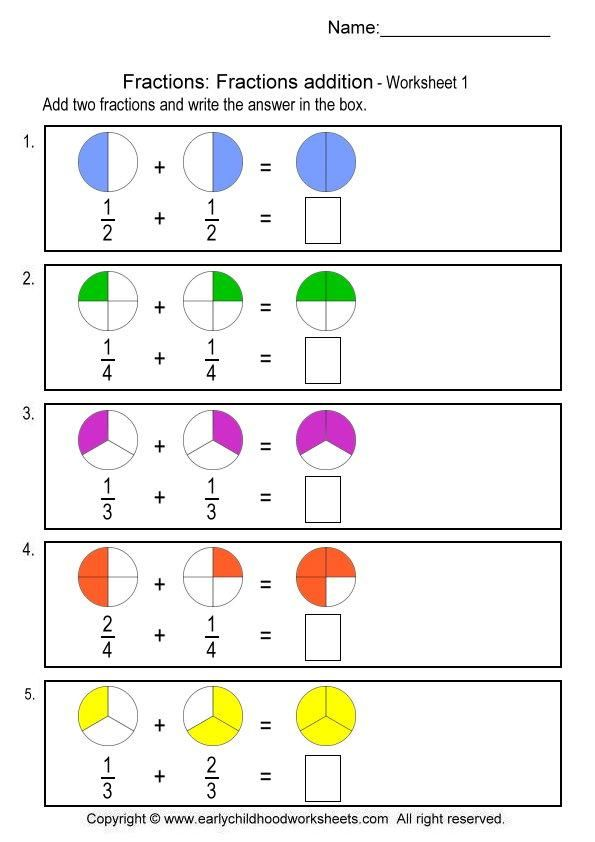 fractions addition | matematicas | Pinterest