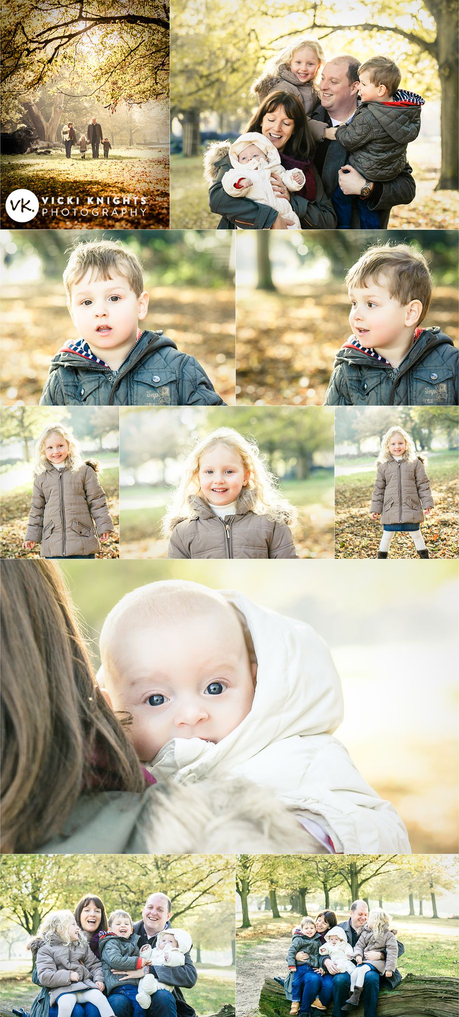 An autumnal family photo shoot - Vicki Knights Photography