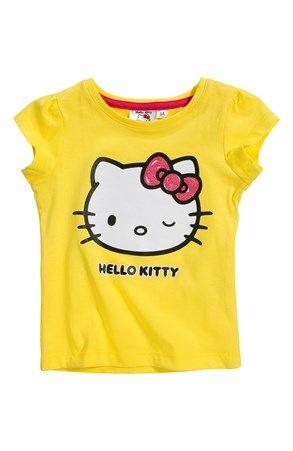 51ca76865e7 Super lækre Hello Kitty Bluse Gul Hello Kitty Toppe til Børn & teenager i  luksus kvalitet
