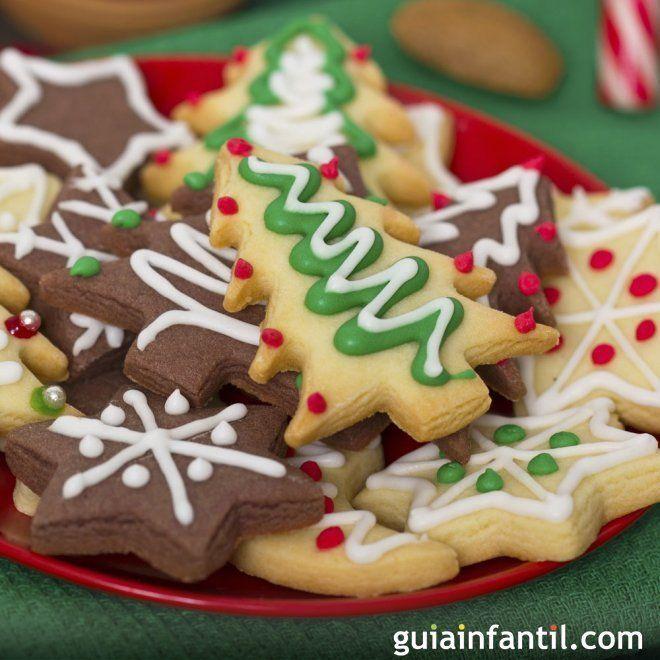 Recetas De Galletas Para La Navidad Recetas De Galletas De Navidad Galletas De Navidad Para Niños Postres Navideños