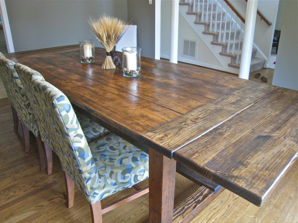 how to build farmhouse table with extension leaf enfants