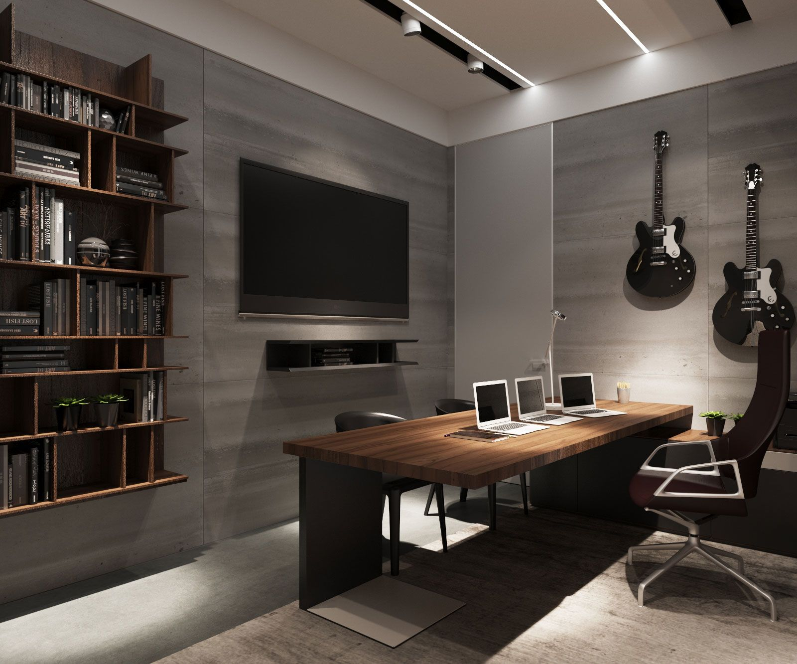 9j apartment by s t architects 17 home office home - Home office setup ideas ...