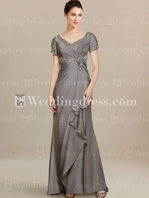 Modern Mother of Bride Dresses with Cascade Skirt MO214 in 2019 ...