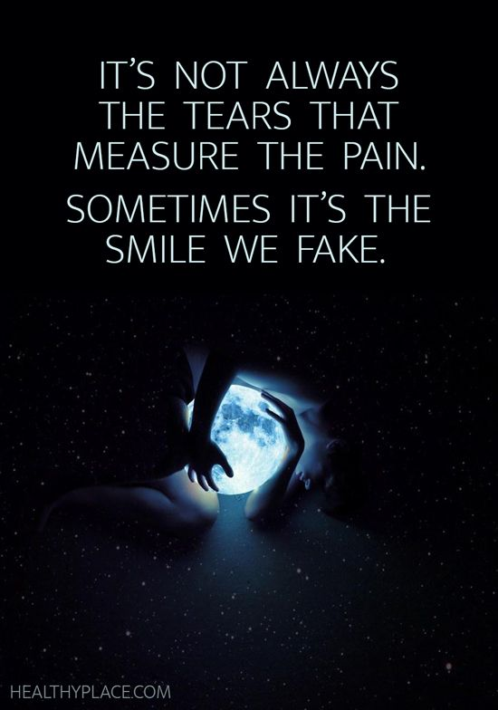 Depression quote It's not always the tears that measure