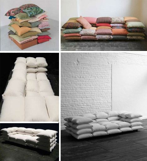 50 Cushion Couch Super Soft Convertible Sofa Sleeper Cushions