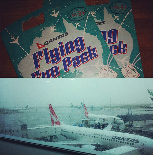 """Teaforfour: """"We've just returned from a trip across the ocean to NZ. Kiddies were well looked after by Qantas - activities, digital onboard entertainment & great kids meals! Delays & missed connections also well managed. Qantas AU gets my vote for travel with kids!"""""""