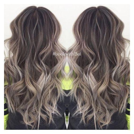 Beautiful Long Dark Brown Hair With Lots Of Cool Tone Ash Blonde