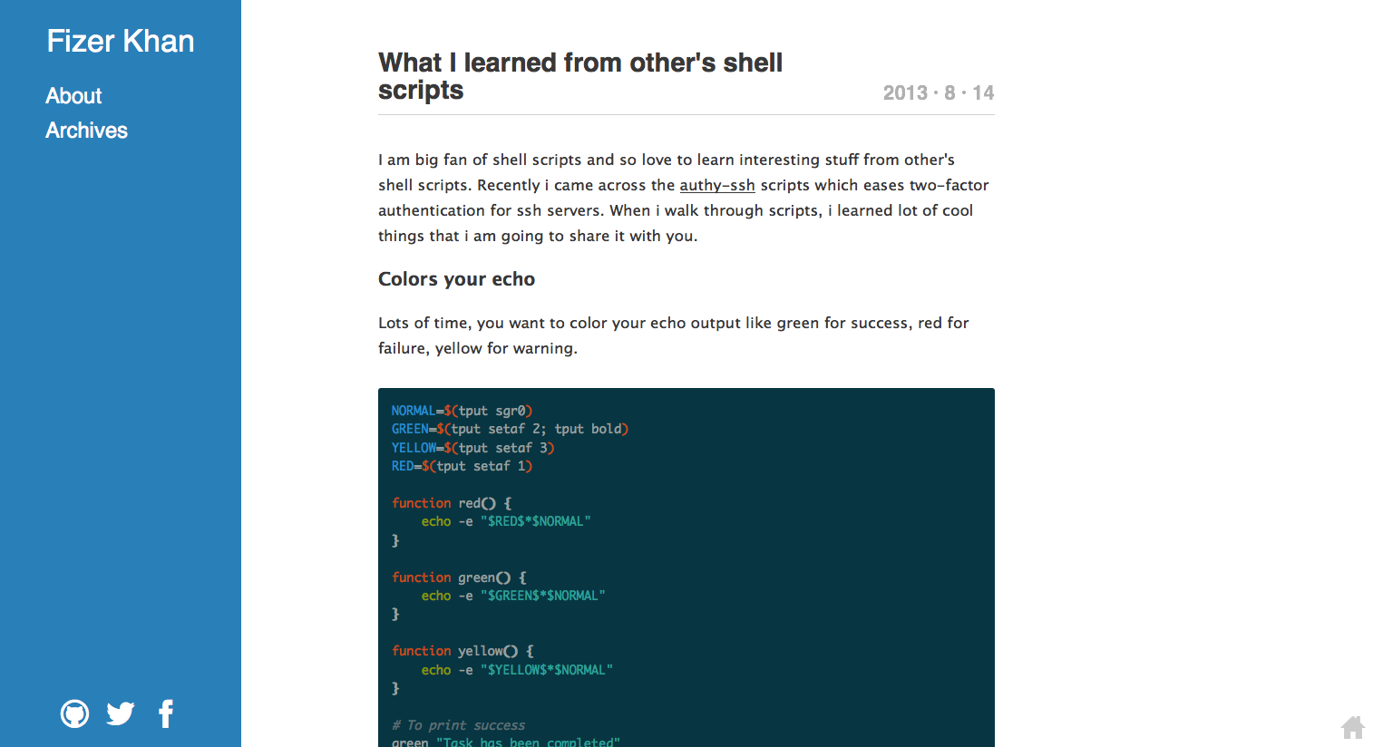 What I learned from others' shell scripts http//www