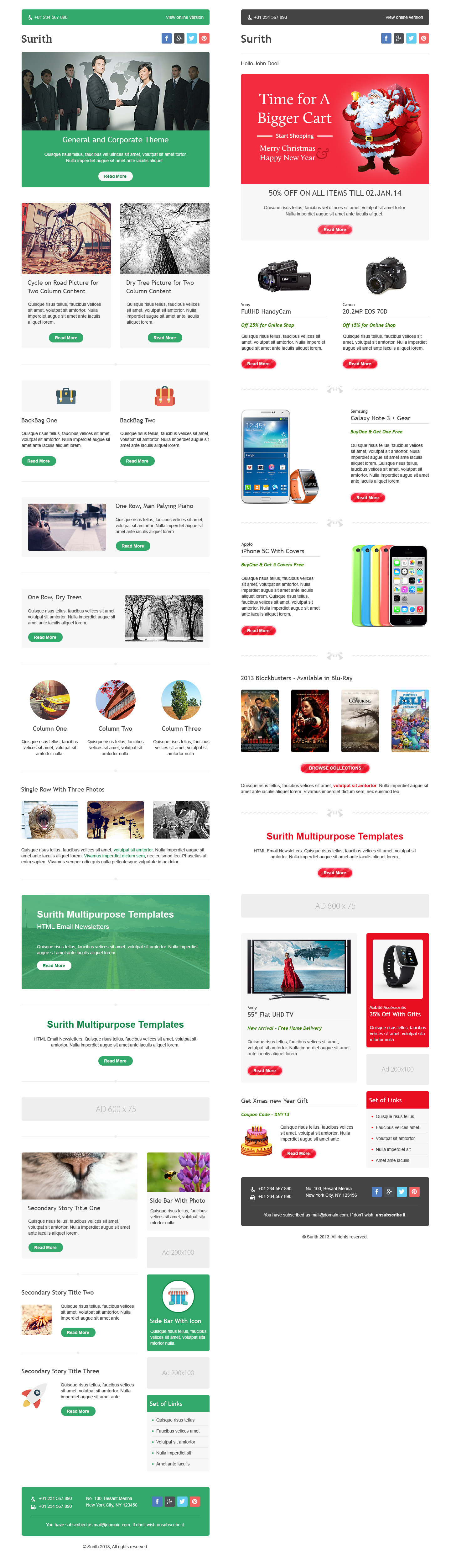 Surith Email Newsletter Templates Newsletter Templates - Mailchimp holiday templates