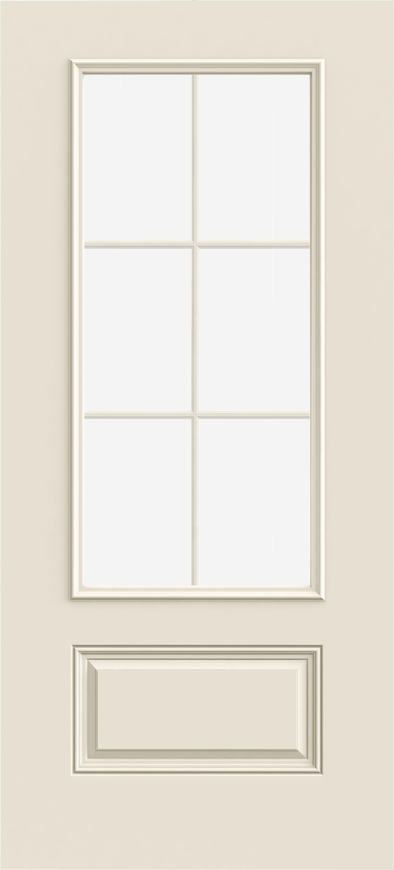 3068 3 4 View 6 Light 1 Panel Paint Grade Exterior Doors Fiberglass Exterior Doors Energy Efficient Door