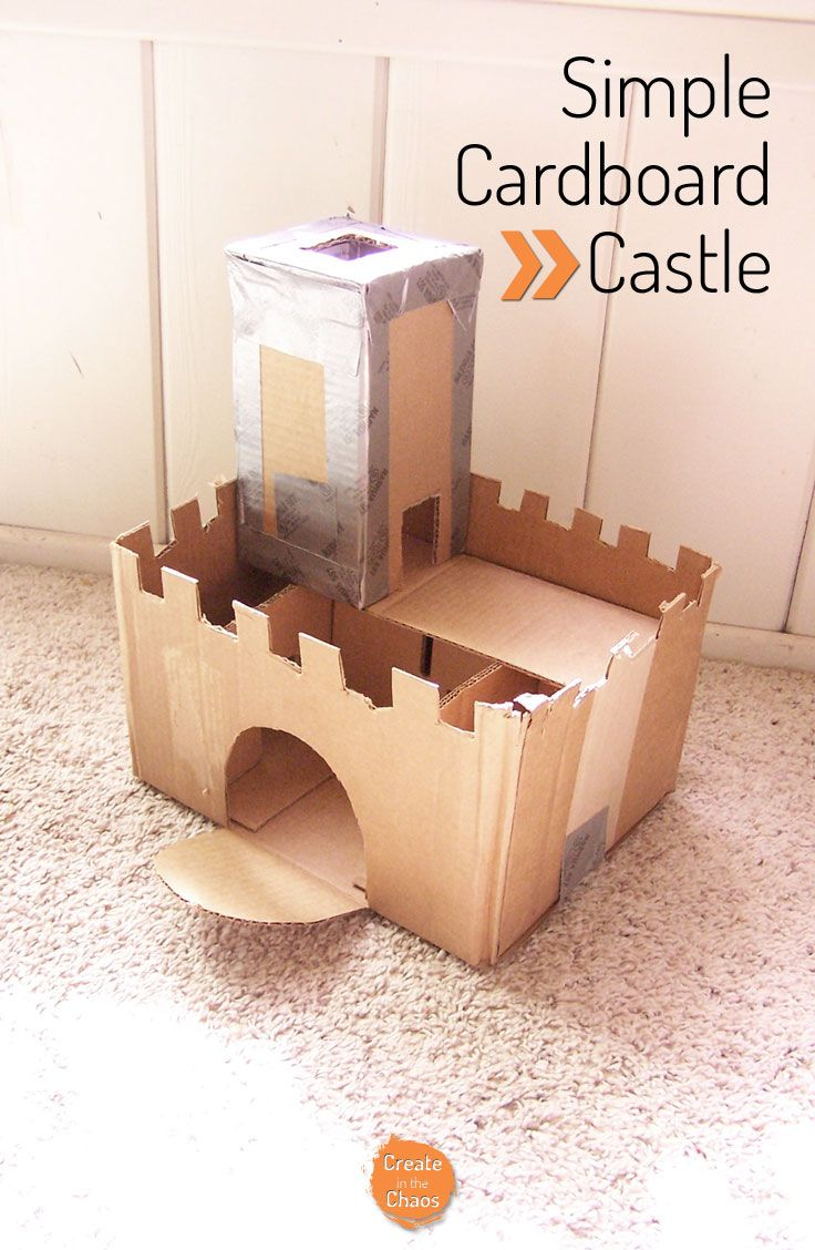 Cardboard Castle All Things Creative Cardboard Castle Castle