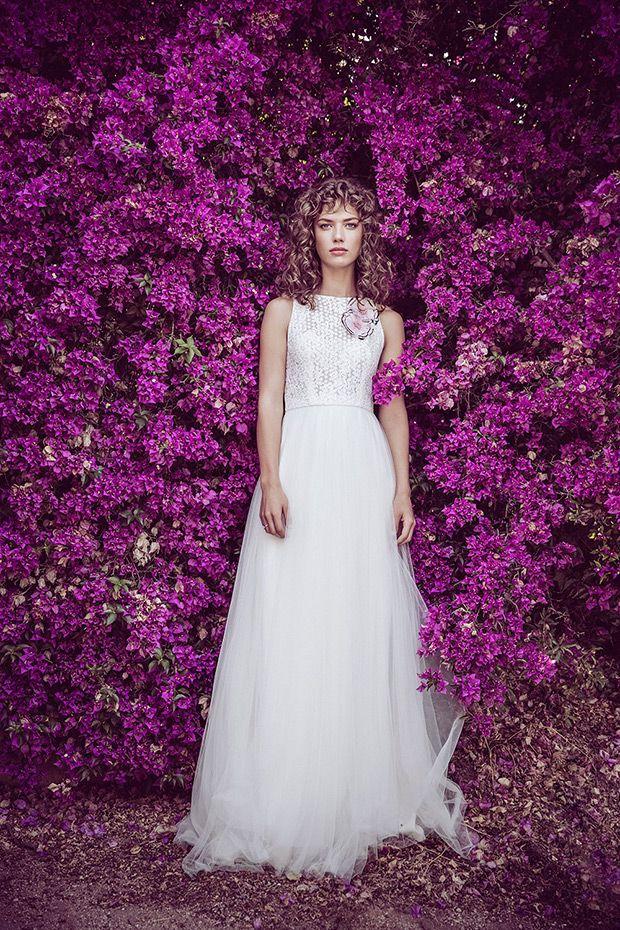 Lujo Vestidos De Novia De Color Rosa Rubor Embellecimiento - Vestido ...
