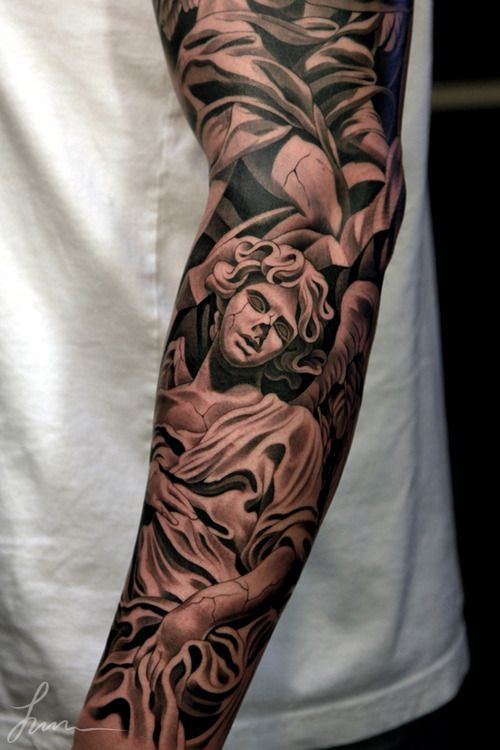 Marble Statue Tattoo : marble, statue, tattoo, Awesome, Sleeve., Black., Tattoo., Beauty., History., Inspiration., Marble., Statue., Rich., Solid., Impressiv…, Picture, Tattoos,, Sleeve, Tattoo, Styles