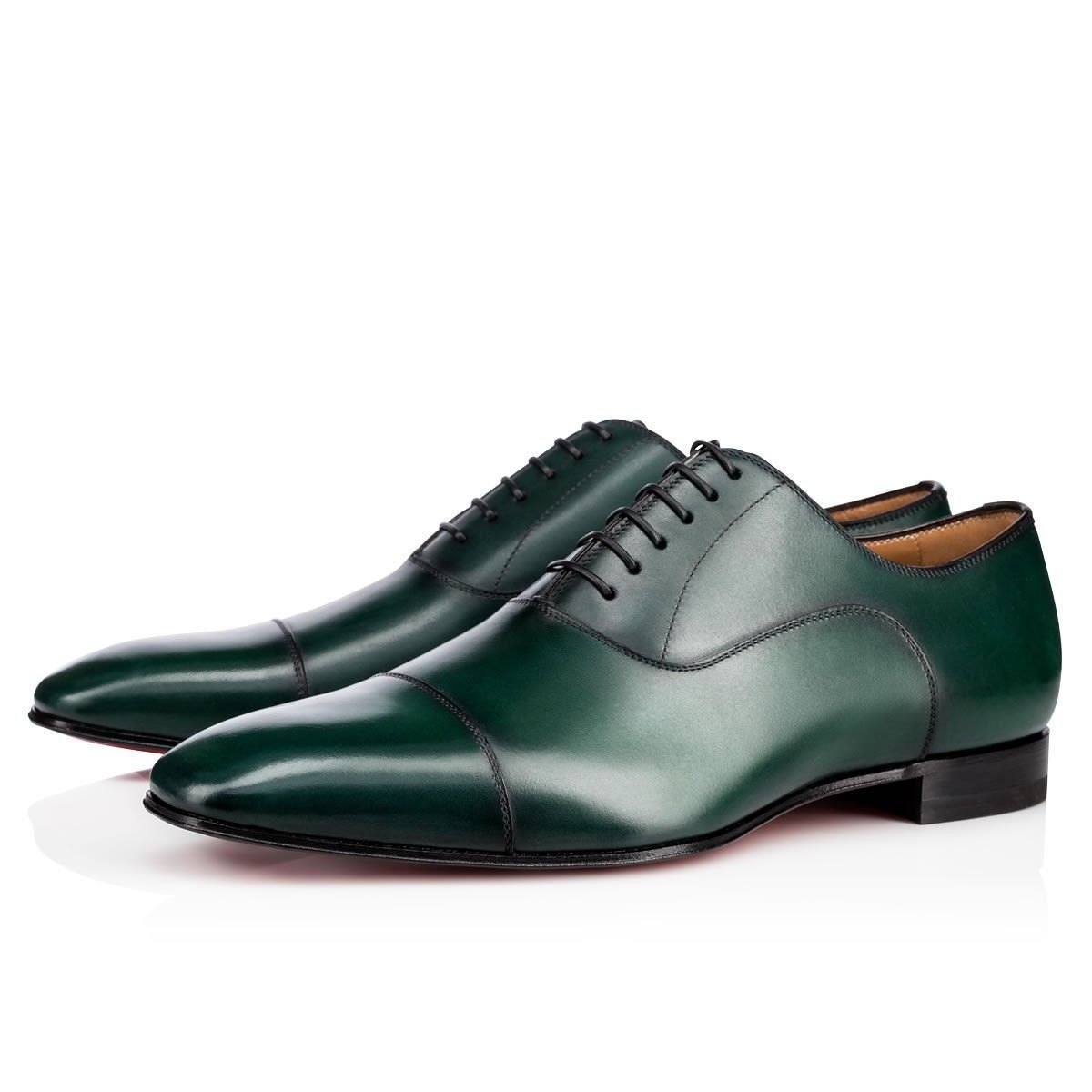 Greggo Flat Green Leather - Men Shoes - Christian Louboutin