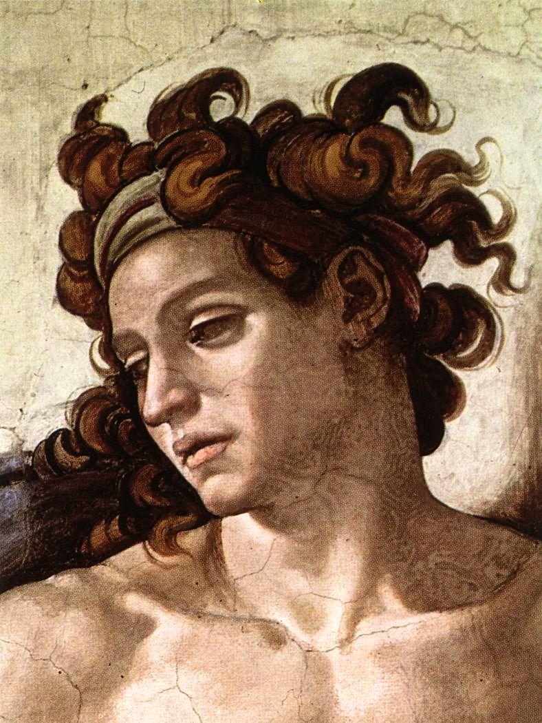Cappella Sistina Ignudo Michelangelo Di Lodovico Buonarroti Simoni 6 March 1475 18 February 1564 Was Arte Renacentista Arte Del Renacimiento Arte Italiano
