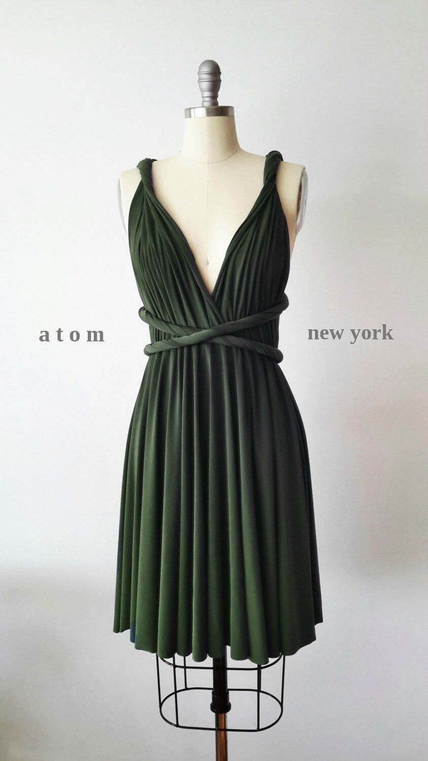 Etsy Forest Green SHORT Infinity Dress Convertible Formal Multiway ...