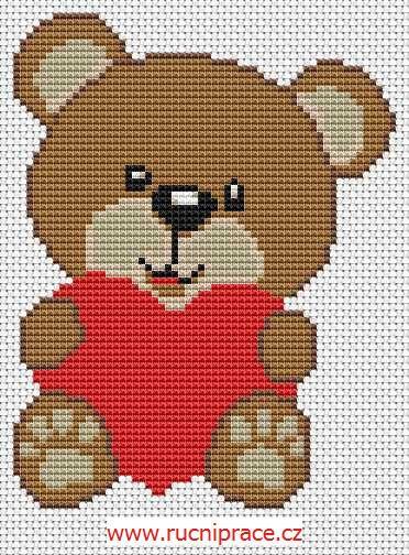 Teddy Bear Free Cross Stitch Pattern Adriana Cross Stitch