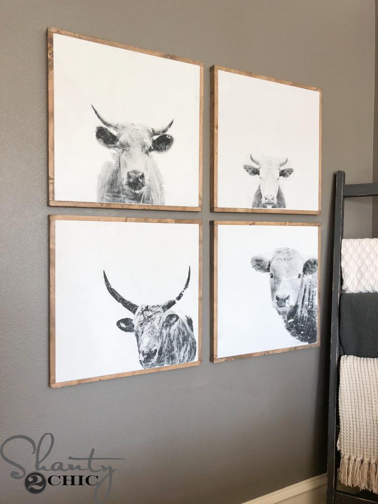 DIY Cow Wall Art