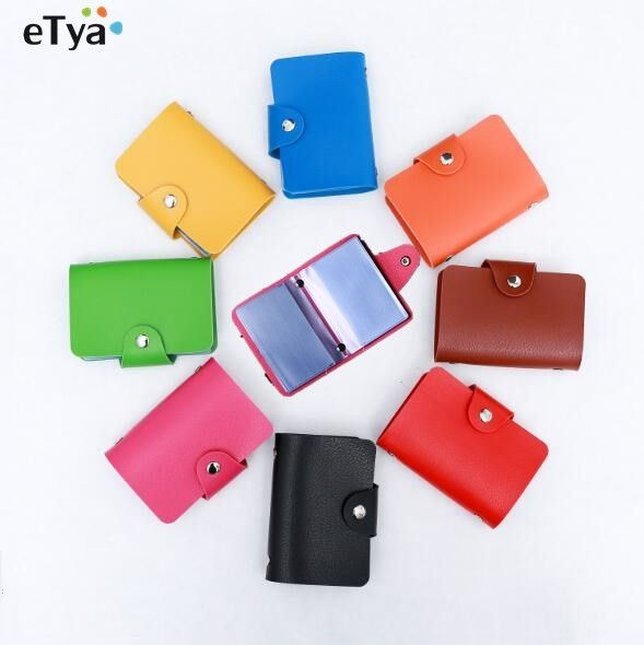 Etya leather women business credit card wallet purse name id card etya leather women business credit card wallet purse name id card holder bags case wallet box reheart Images