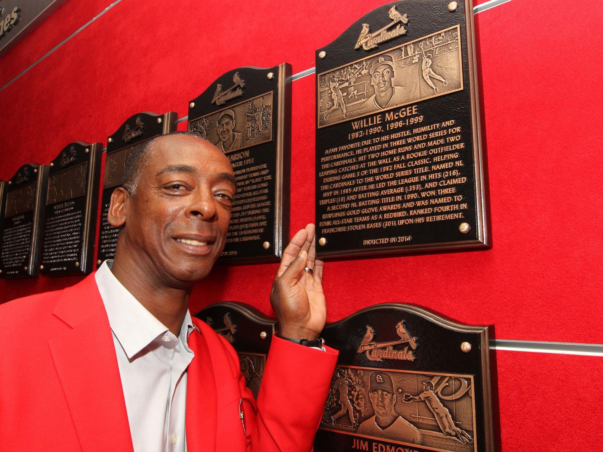 Cardinals Hofer Willie Mcgee Stl Cardinals