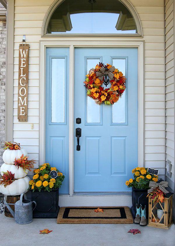 Cheery Fall Front Door Decorations Front Door Fall Decor Front Door Decor Fall Front Door