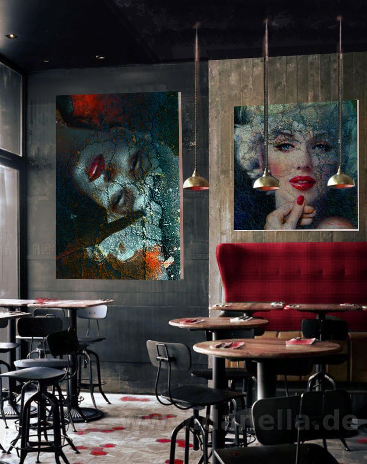 "Renardiere "" Marilyn In Art By Wwwfb "" Architectura Extraordinary Bar Interiors Design Painting"