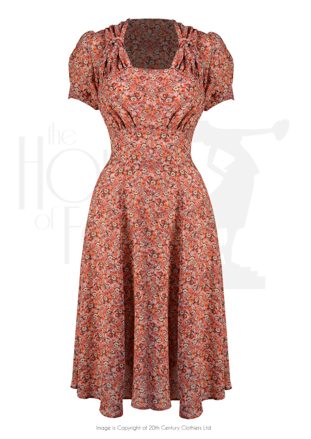 b087ca34f7a 40s Homefront Dancing Dress - Red Ditsy in 2019