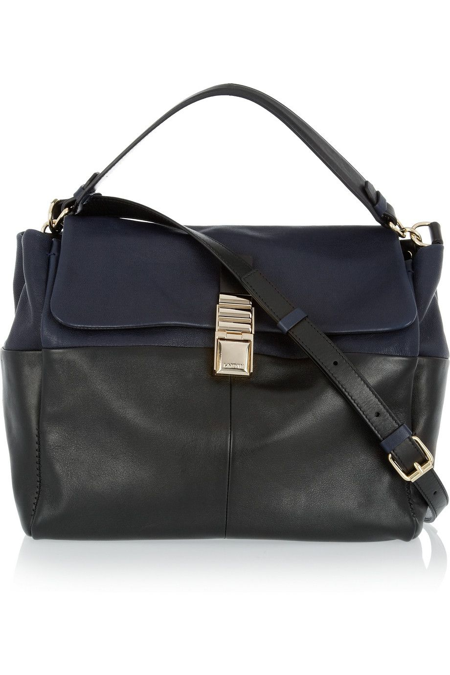 Lanvin For Me Two Tone Leather Shoulder Bag Want