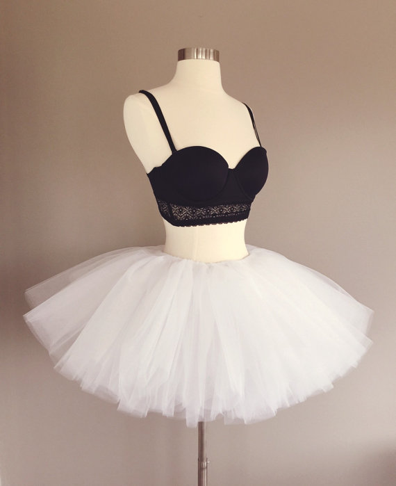 a3492efdd Short white tutu, bachelorette party, race tutu, rave tutu, adult tutu, tutu  skirt, custom made- ful