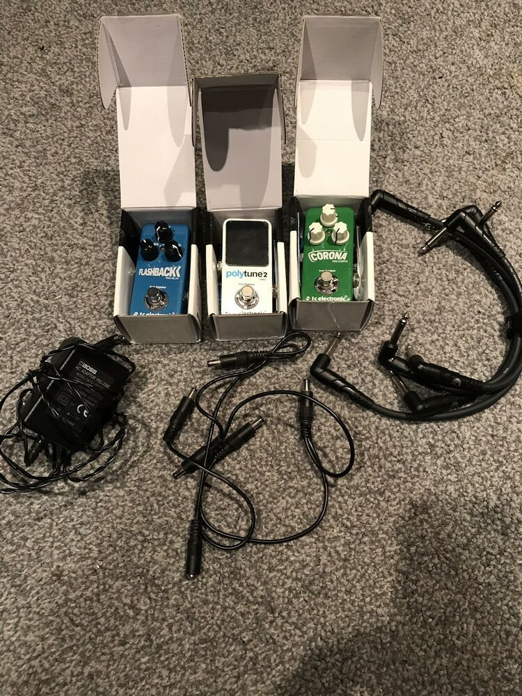 X3 TC Electronic Mini Guitar Pedals Inc Tuner, Delay, Chorus Plus Extras #guitarpedals X3 TC Electronic Mini Guitar Pedals Inc Tuner, Delay, Chorus Plus Extras #guitarpedals