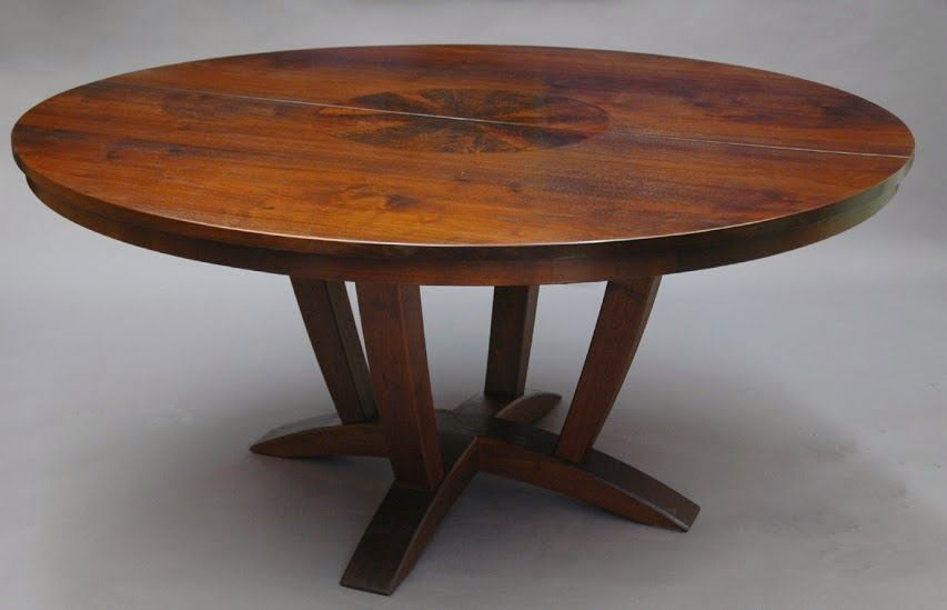 A Round Walnut Table With An Inlay Round Pedestal Dining Table Dining Table Price Dining Table