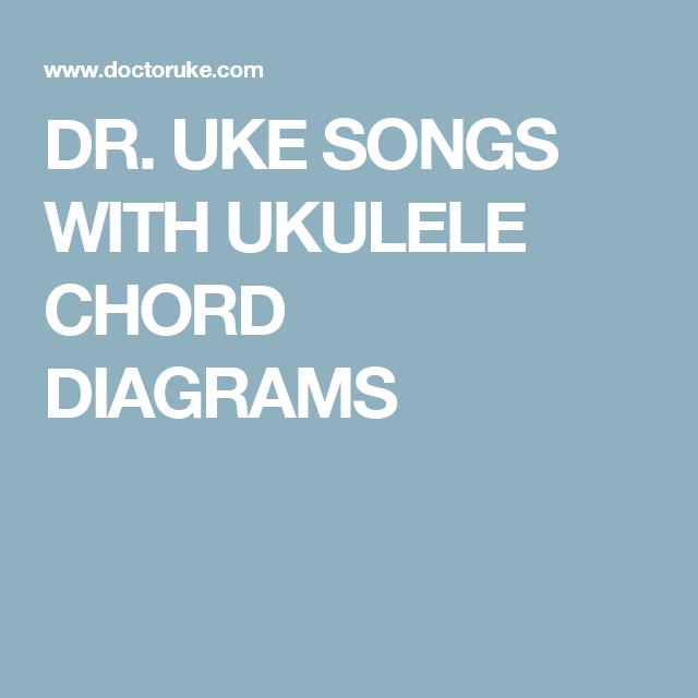 Dr Uke Songs With Ukulele Chord Diagrams Ukulele Songs