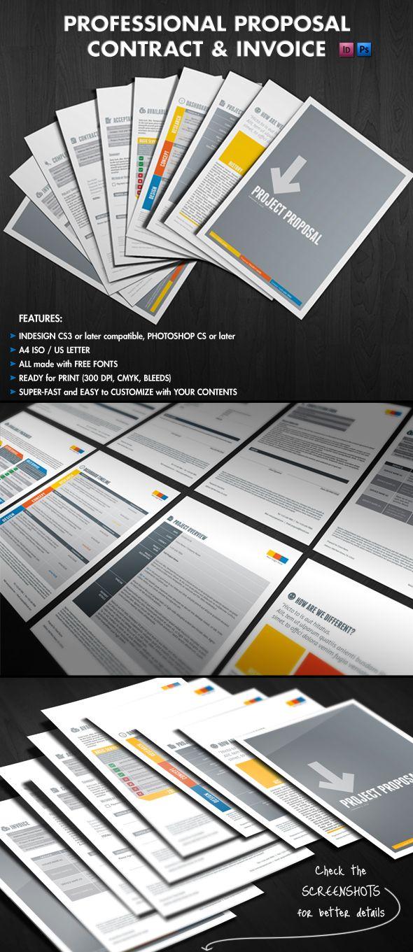 Proposal, Contract & Invoice by Andrea Balzano, via Behance