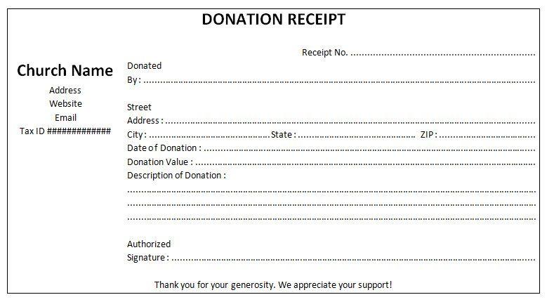 Non Profit Donation Receipt Template Sample Receipt Template Donation Form Non Profit Donations