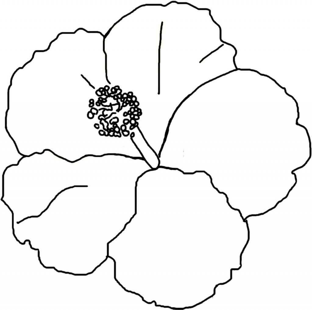 Free Printable Hibiscus Coloring Pages For Kids Coloring Pages - Hibiscus-coloring-pages