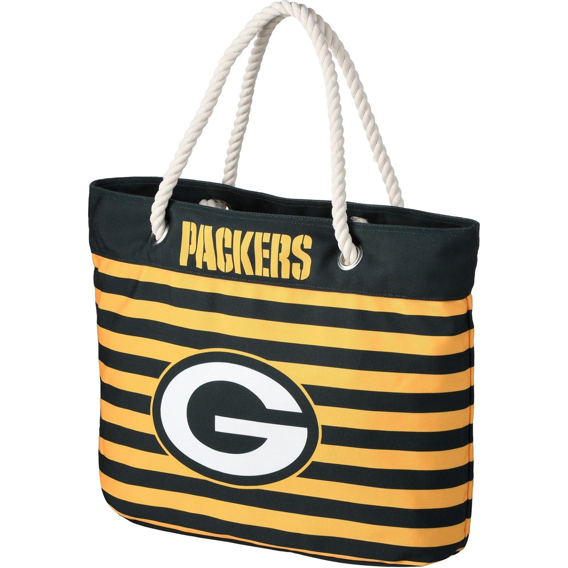 Green Bay Packers NFL Nautical Stripe Tote Bag