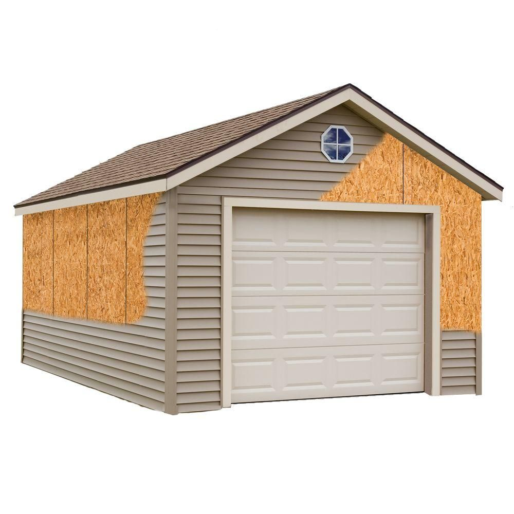 Best Barns Greenbriar 12 Ft X 16 Ft Prepped For Vinyl Garage Kit Without Floor Greenbriar 1216 The Home Depot Wood Garage Kits Best Barns Garage Kits