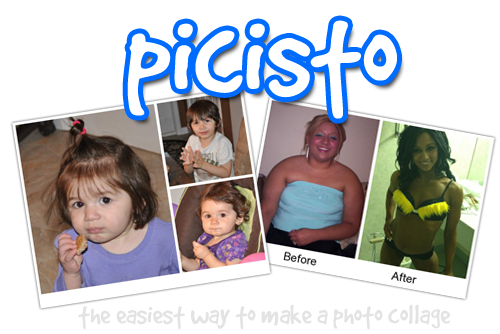 Picisto - Make a photo collage: choose layout, add text, save ...