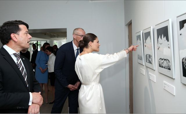 Crown Princess Victoria of Sweden visited the Latvia for participate in the opening ceremony of the VI Annual Forum of the EU Strategy for the Baltic Sea Region on June 15, 2015.